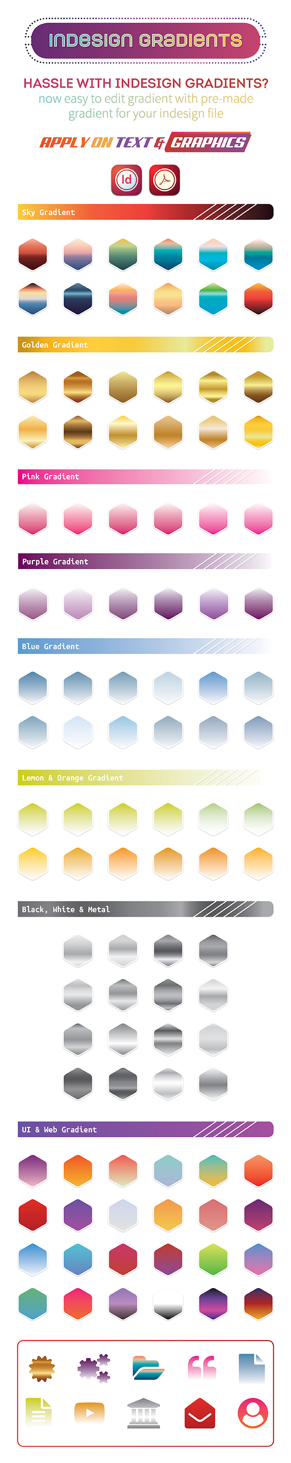 InDesign Gradient File - Add-ons