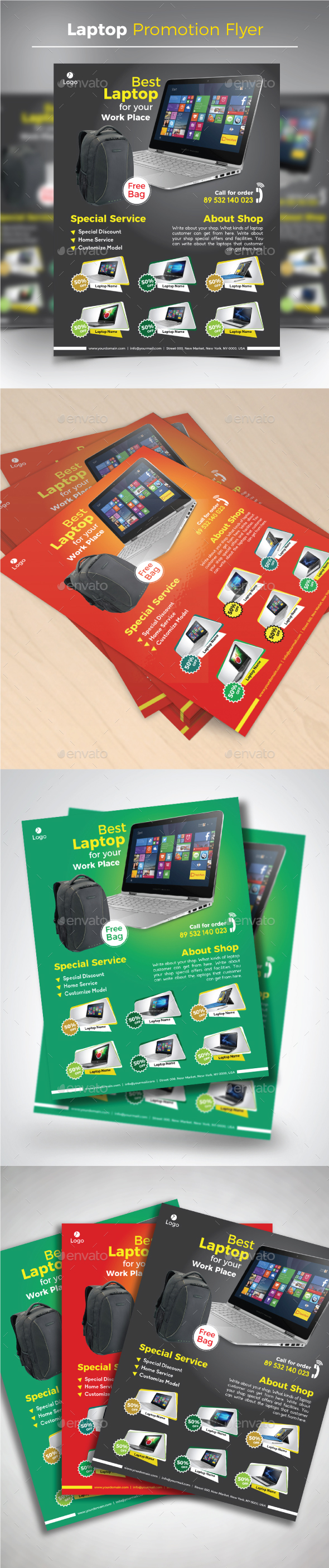 Laptop Promotion Flyer - Commerce Flyers
