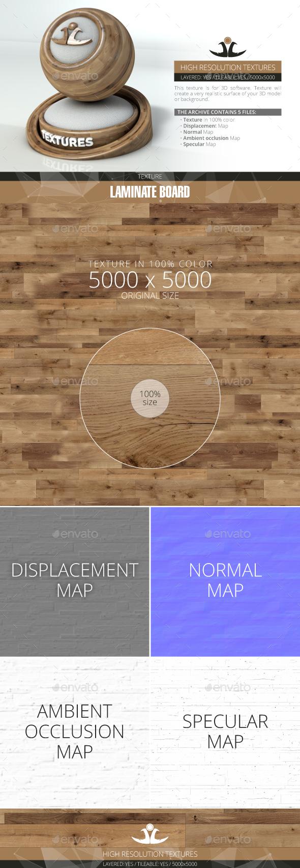 Laminate Board 34 - 3DOcean Item for Sale
