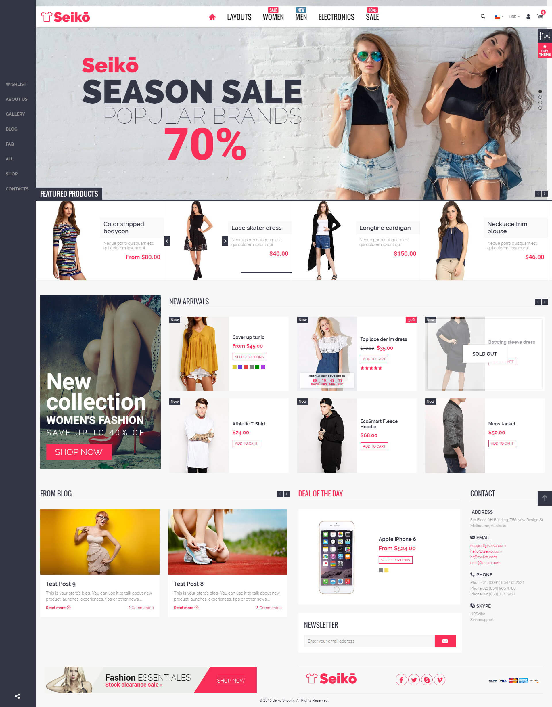Seiko - eCommerce HTML Template by bigsteps   ThemeForest