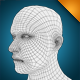 low poly male head base mesh - 3DOcean Item for Sale