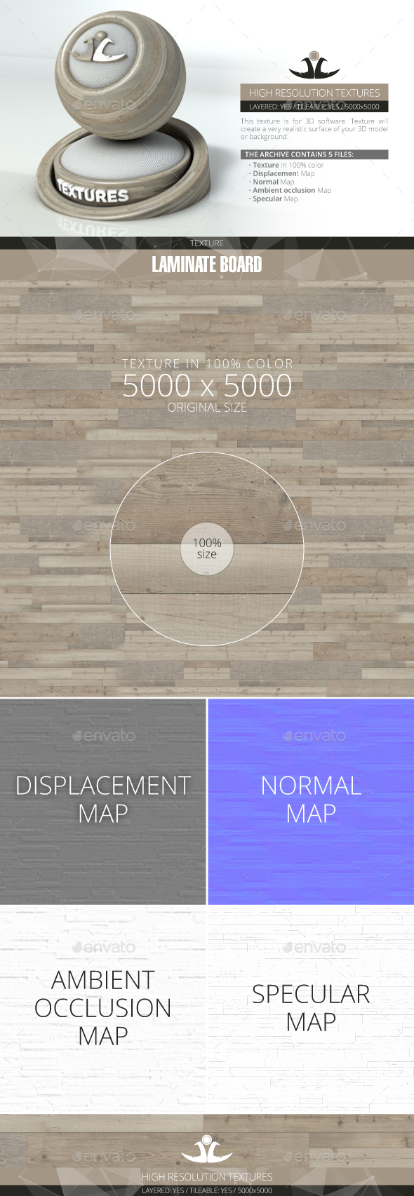 Laminate Board 36 - 3DOcean Item for Sale