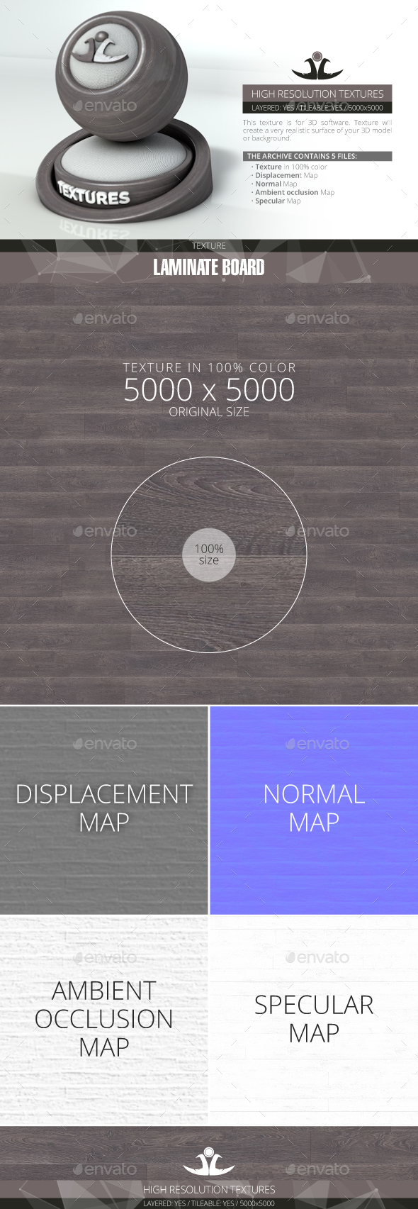 Laminate Board 37 - 3DOcean Item for Sale