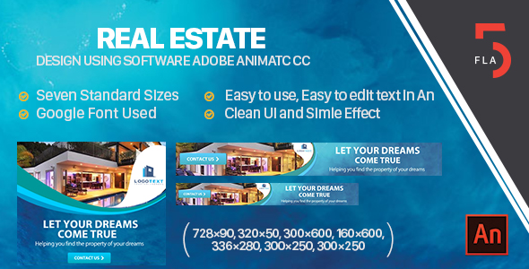 Real Estate  Banner Ad  HTML5 (Animate CC) - CodeCanyon Item for Sale