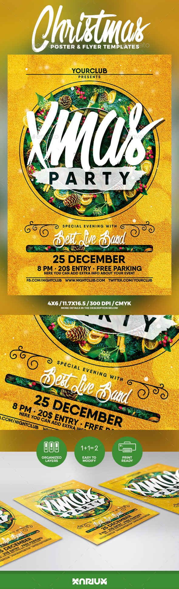 Christmas Party Flyer & Poster - Events Flyers