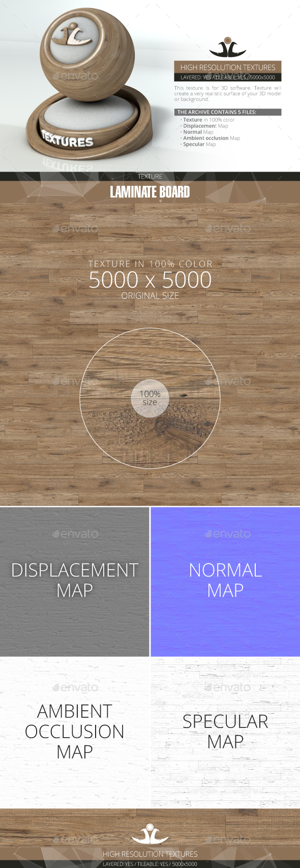 Laminate Board 43 - 3DOcean Item for Sale