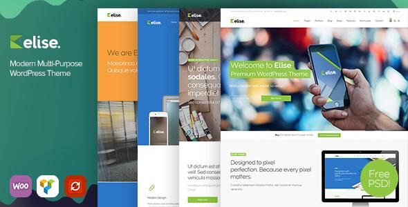 Elise - Modern Multi-Purpose WordPress Theme - Corporate WordPress