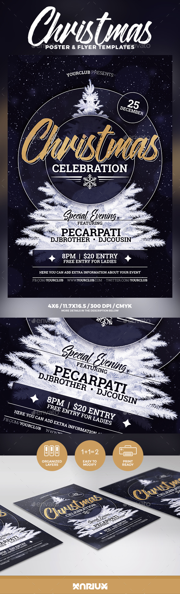 Christmas Celebration Flyer & Poster - Holidays Events