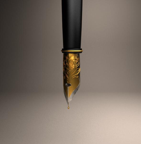 Old ink pen - 3DOcean Item for Sale