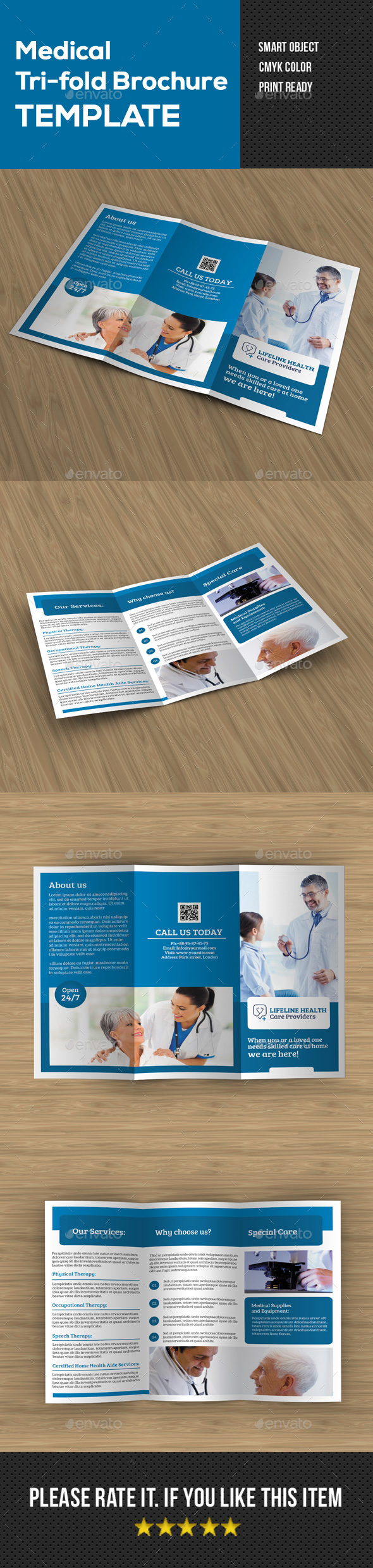 GraphicRiver Medical Tri fold brochure 20873425