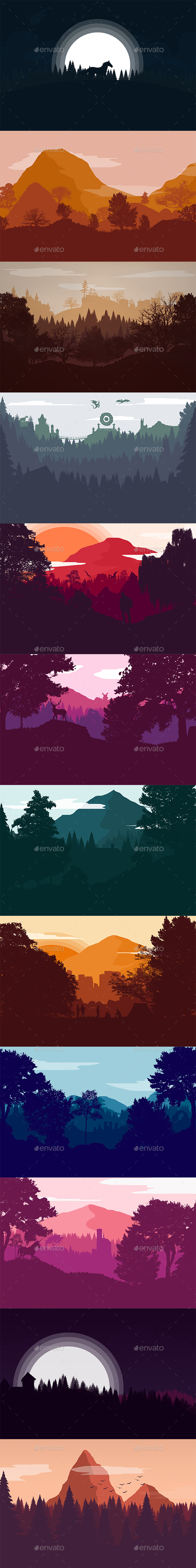 GraphicRiver Creative Landscape Backgrounds Vol2 20873456