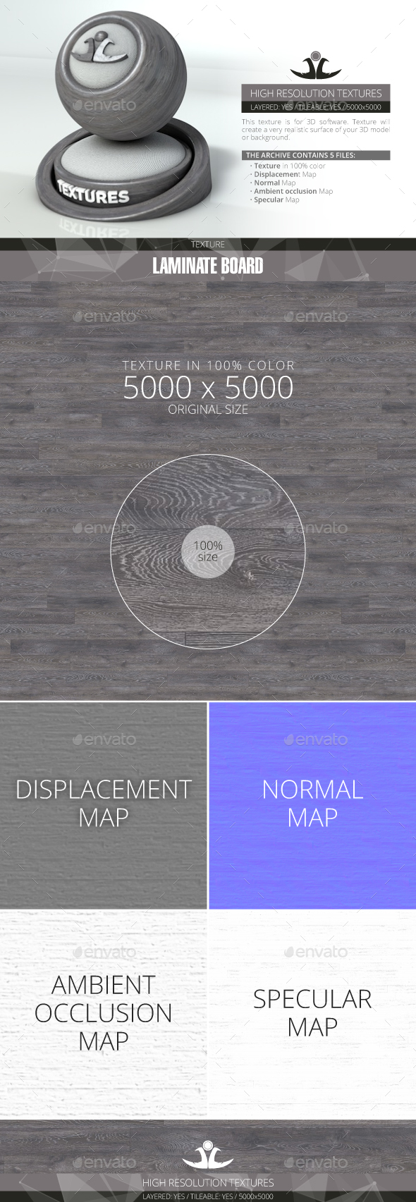 Laminate Board 50 - 3DOcean Item for Sale