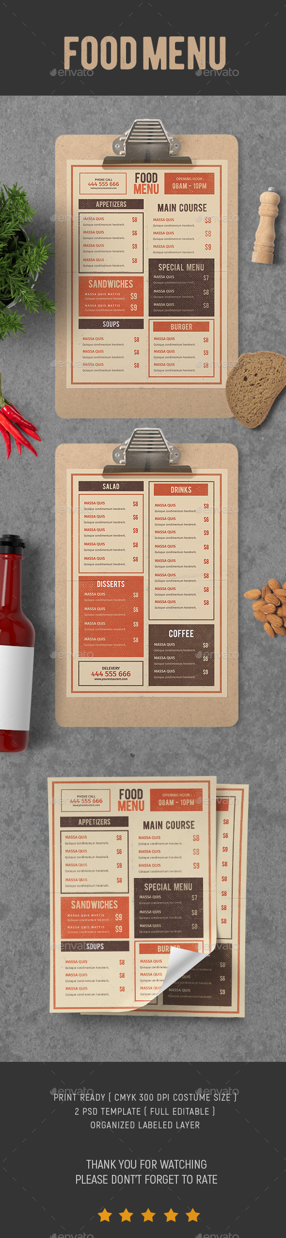 GraphicRiver Food Menu vol.6 20873542