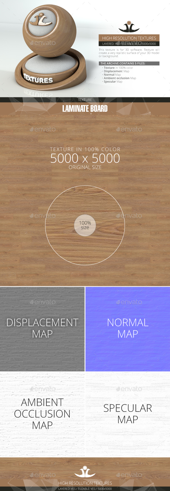 Laminate Board 51 - 3DOcean Item for Sale
