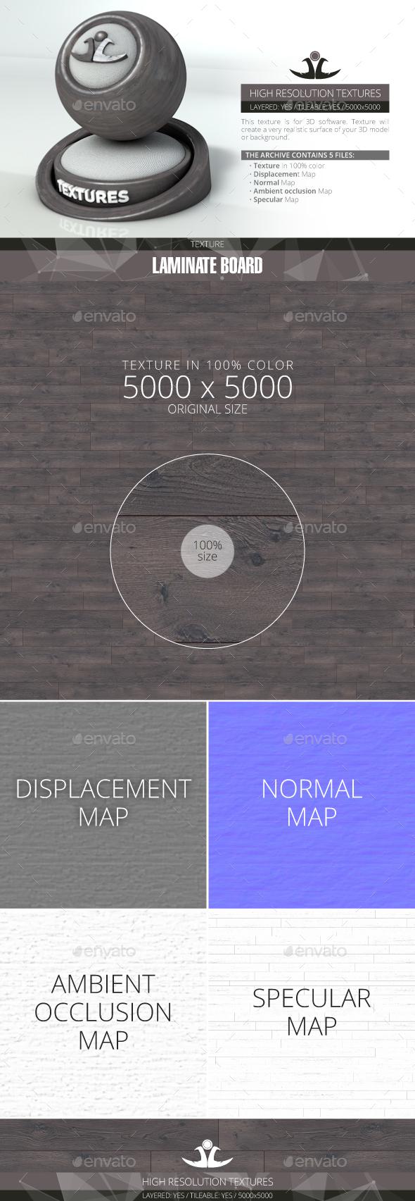 Laminate Board 52 - 3DOcean Item for Sale