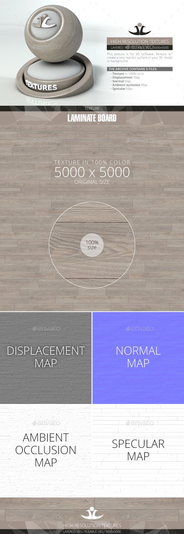 Laminate Board 53 - 3DOcean Item for Sale