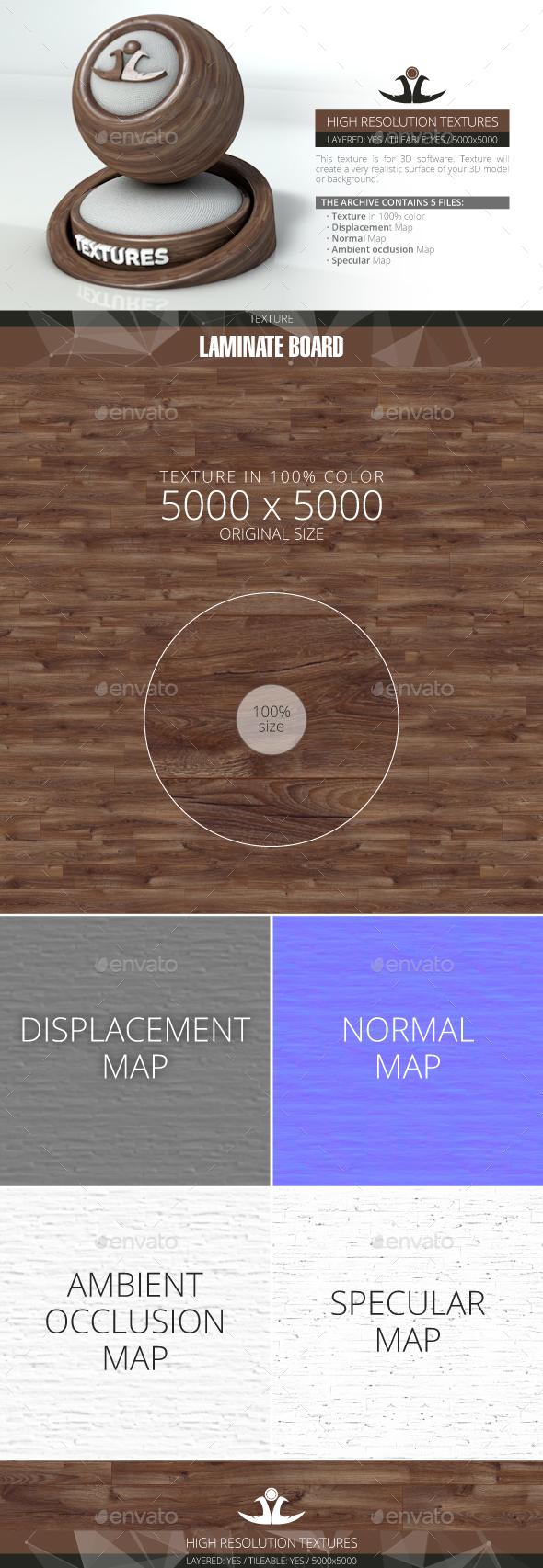 Laminate Board 54 - 3DOcean Item for Sale