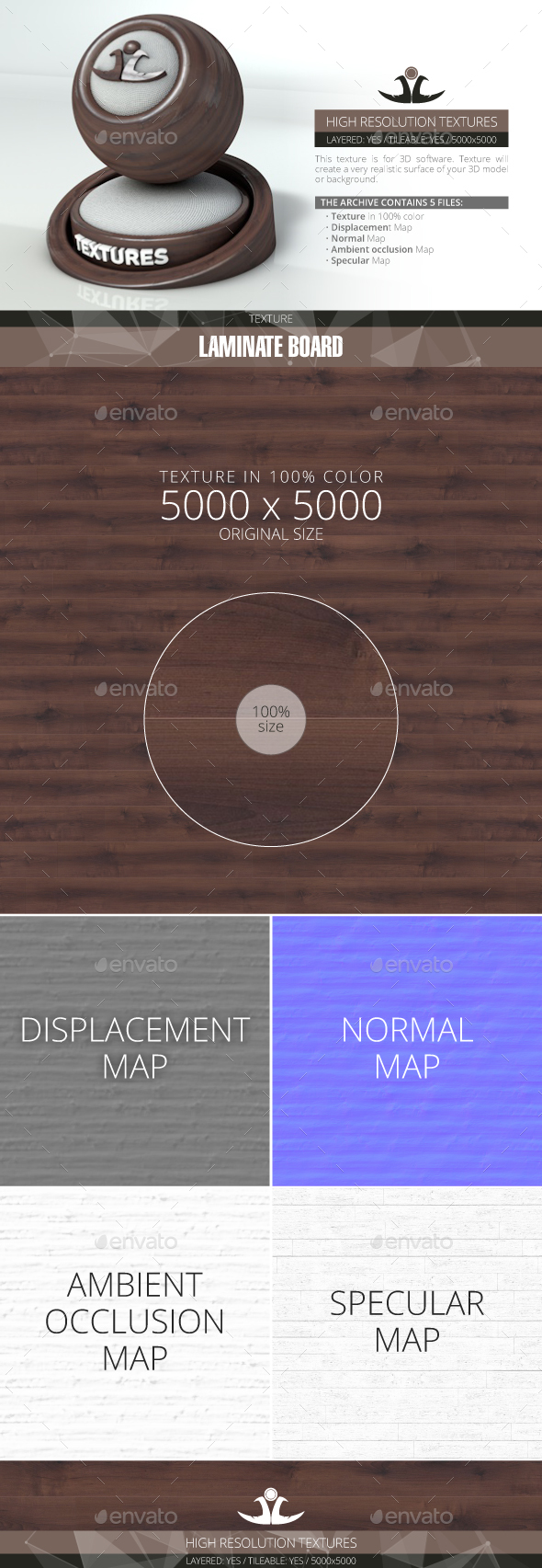 Laminate Board 56 - 3DOcean Item for Sale