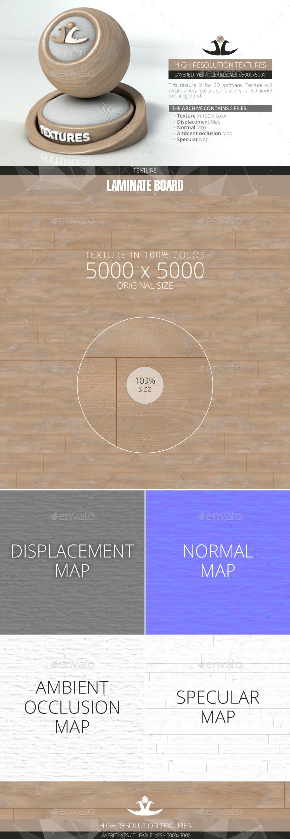 Laminate Board 57 - 3DOcean Item for Sale