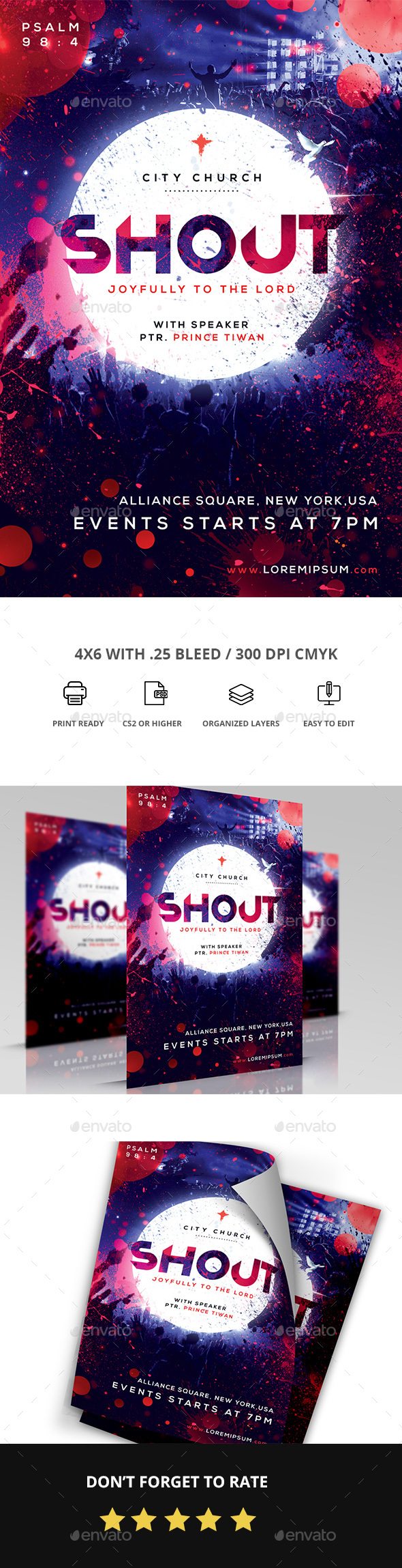 GraphicRiver Shout Church Flyer 20873723