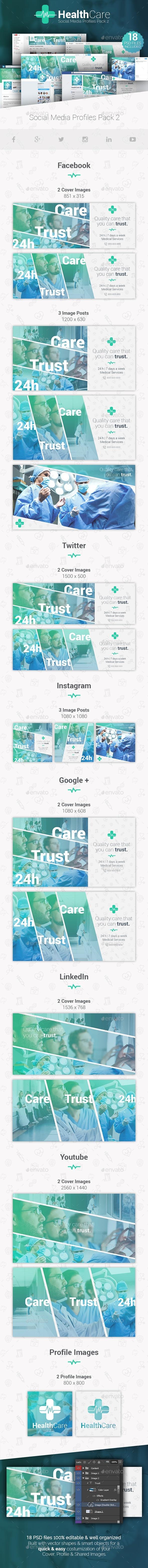 GraphicRiver HealthCare Social Media Cover Profile Pack 2 20873721