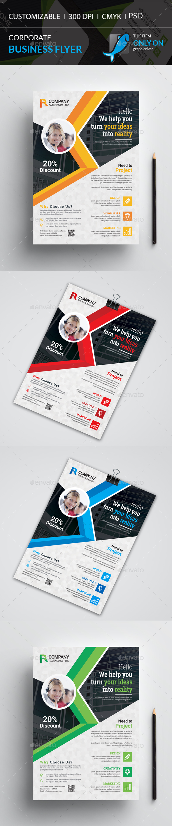 GraphicRiver Corporate Flyer 20873736