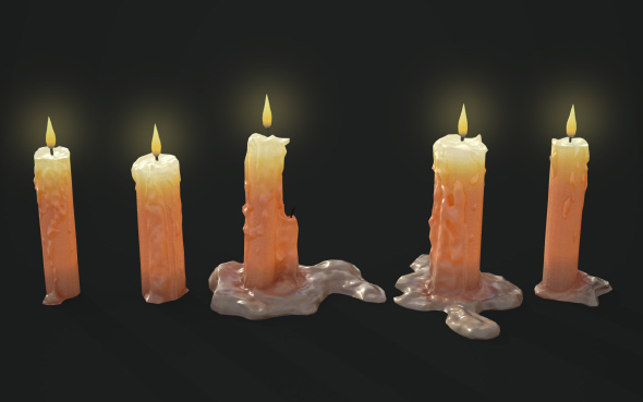 3DOcean Candles Pack 20873787
