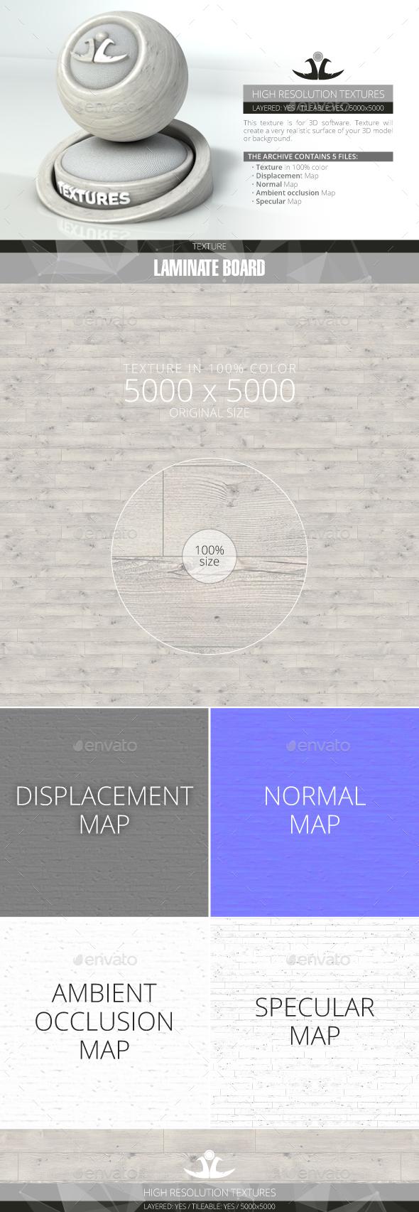 Laminate Board 62 - 3DOcean Item for Sale