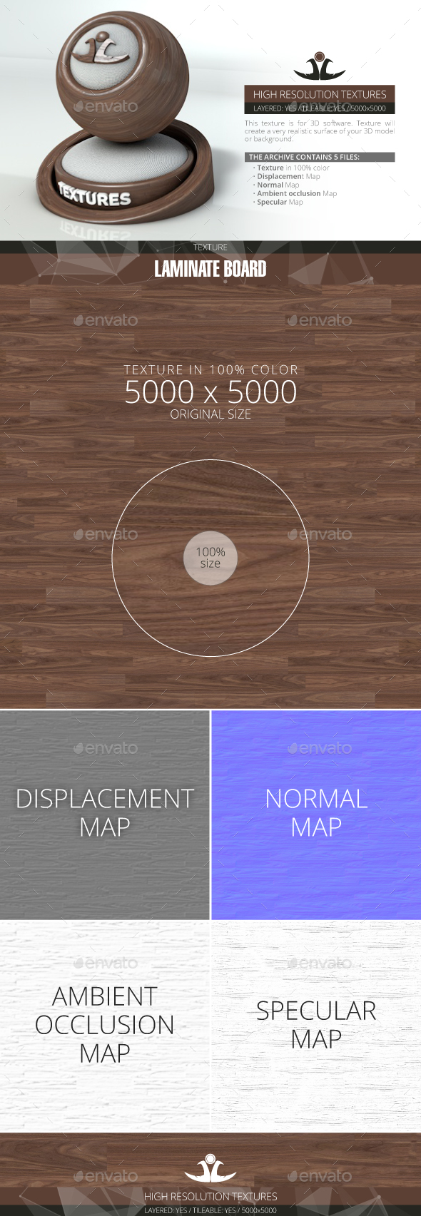 Laminate Board 63 - 3DOcean Item for Sale