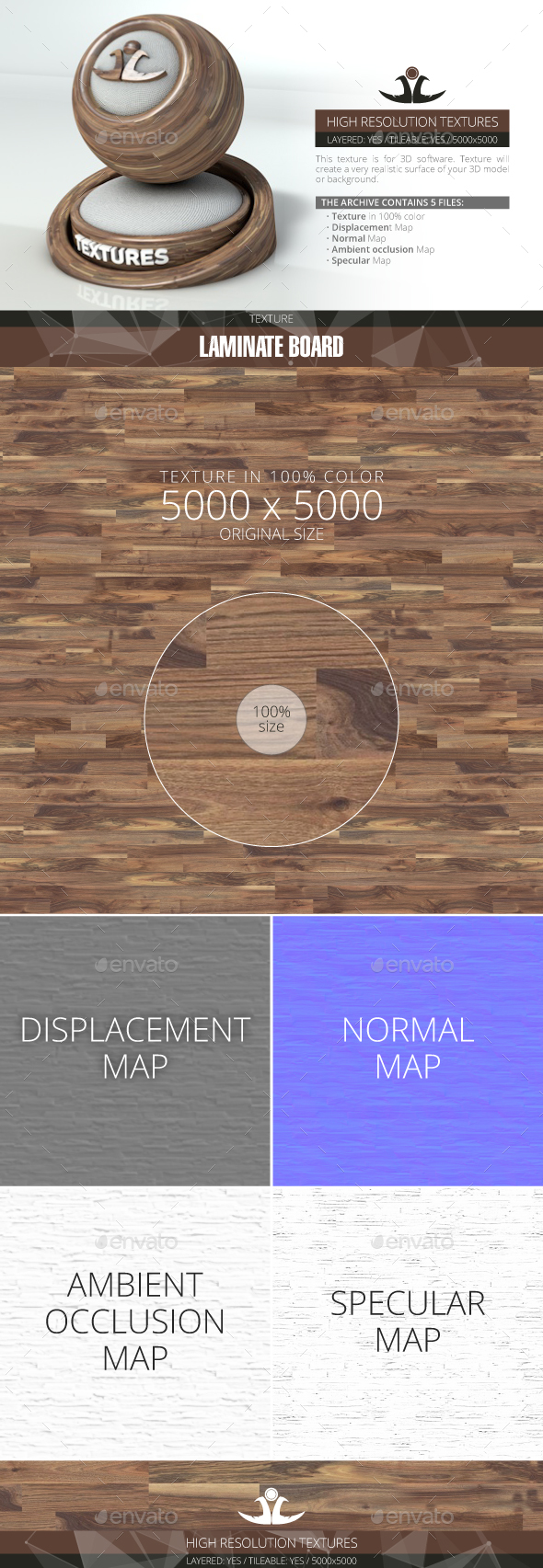 Laminate Board 64 - 3DOcean Item for Sale