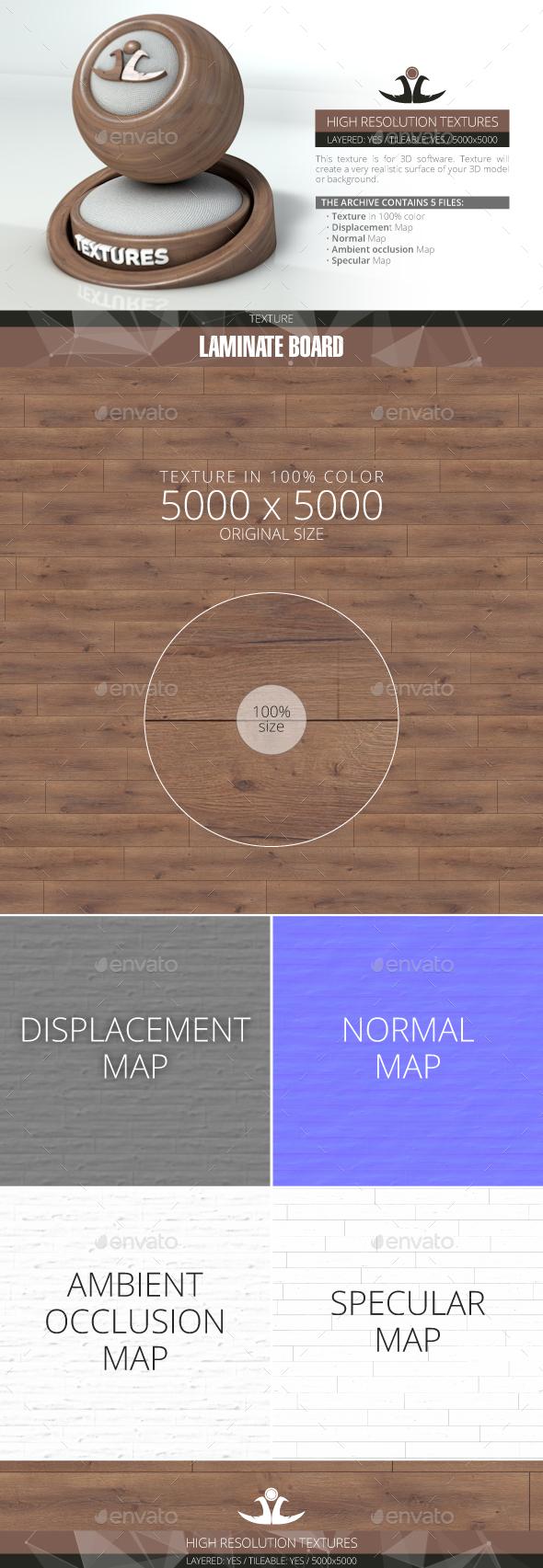 Laminate Board 66 - 3DOcean Item for Sale