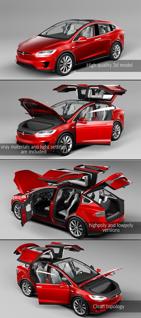 3DOcean Tesla Model X 2017 20874025