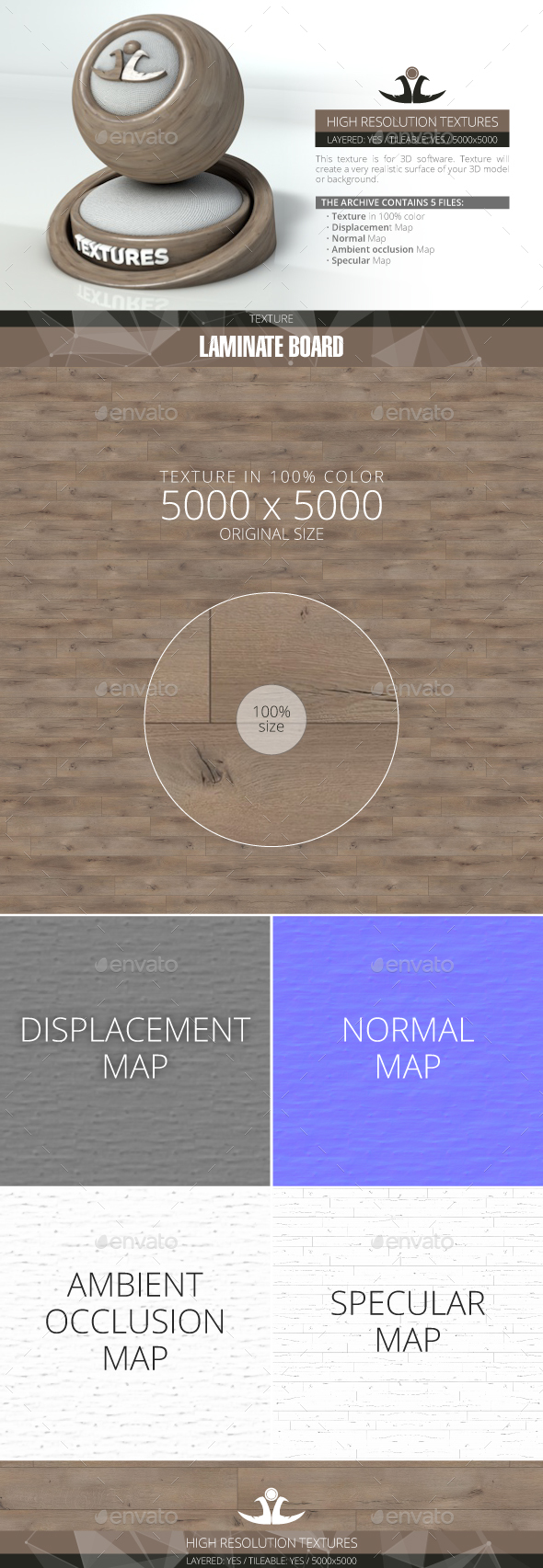 Laminate Board 69 - 3DOcean Item for Sale