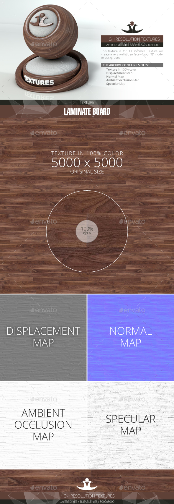 Laminate Board 70 - 3DOcean Item for Sale