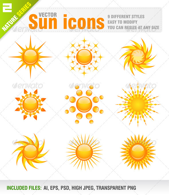 Sun icons - Nature Conceptual