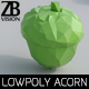 Lowpoly Acorn 001 - 3DOcean Item for Sale