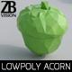 Lowpoly Acorn 001