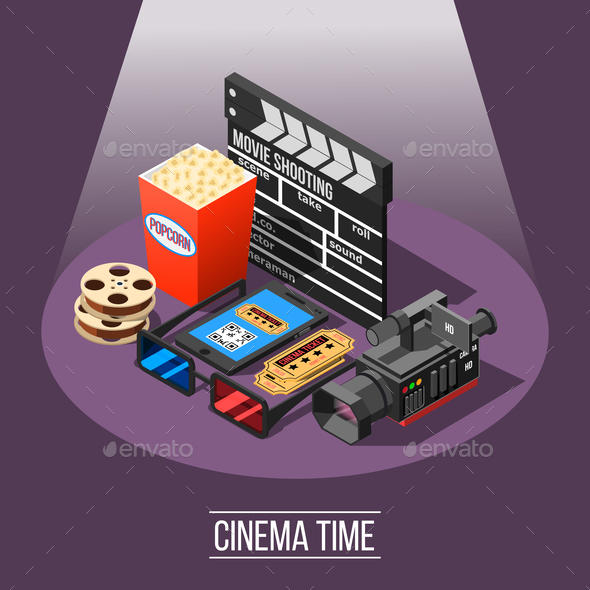 Cinema Time Background Concept - Industries Business