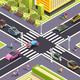 Future Transport Isometric Street Background