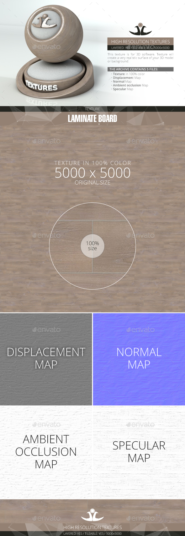 Laminate Board 71 - 3DOcean Item for Sale