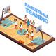 Training Basketball Isometric Composition