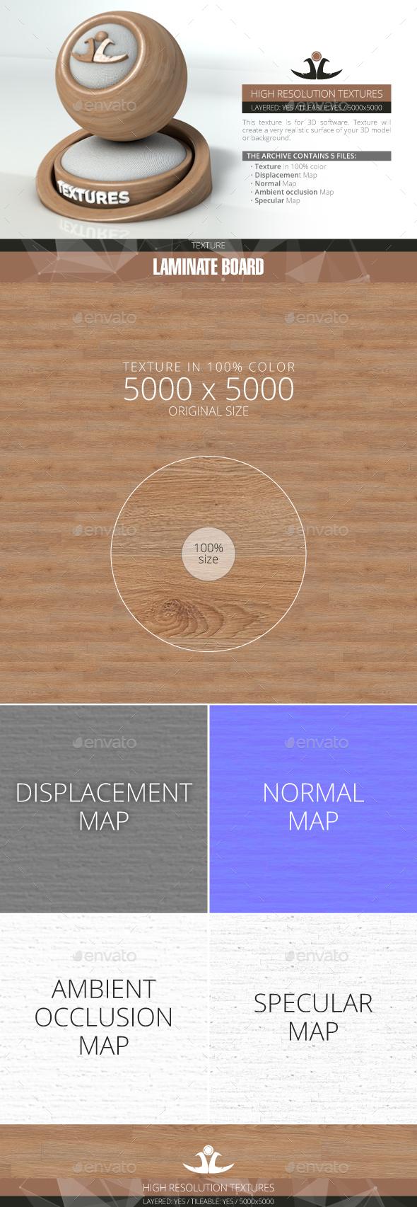 Laminate Board 73 - 3DOcean Item for Sale
