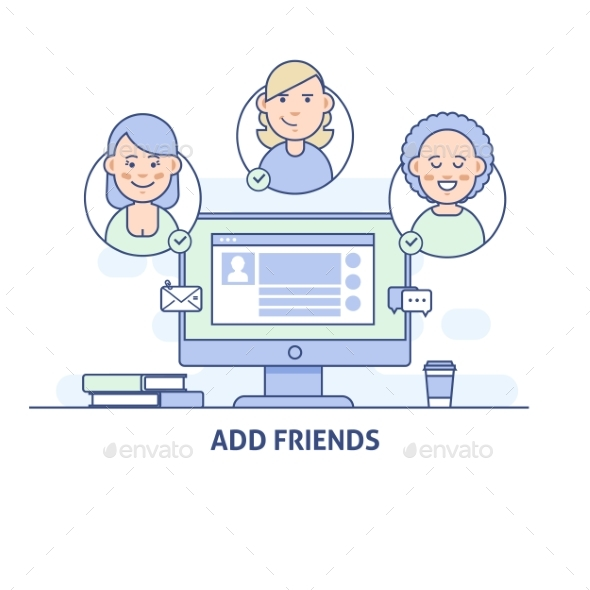 Add Friends Social Network Social Media Icon - Computers Technology