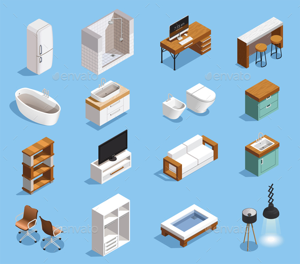 Modern Furniture Icons Collection - Miscellaneous Vectors