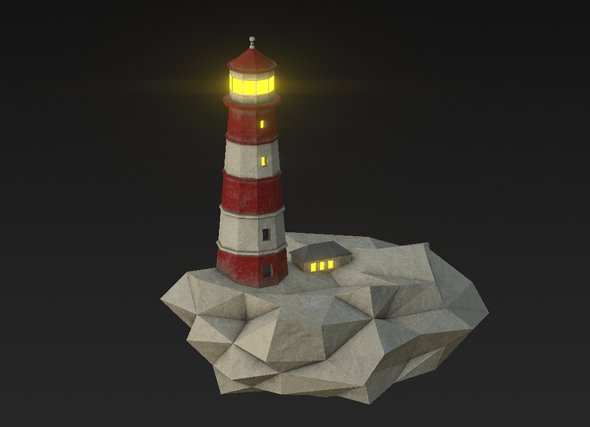 3DOcean Low Poly Lighthouse 20874434