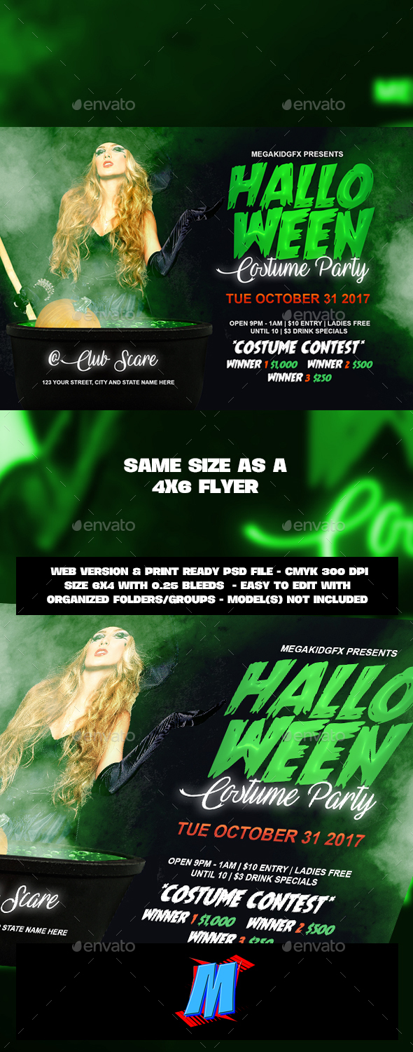 Costume Party Flyer Template - Clubs & Parties Events