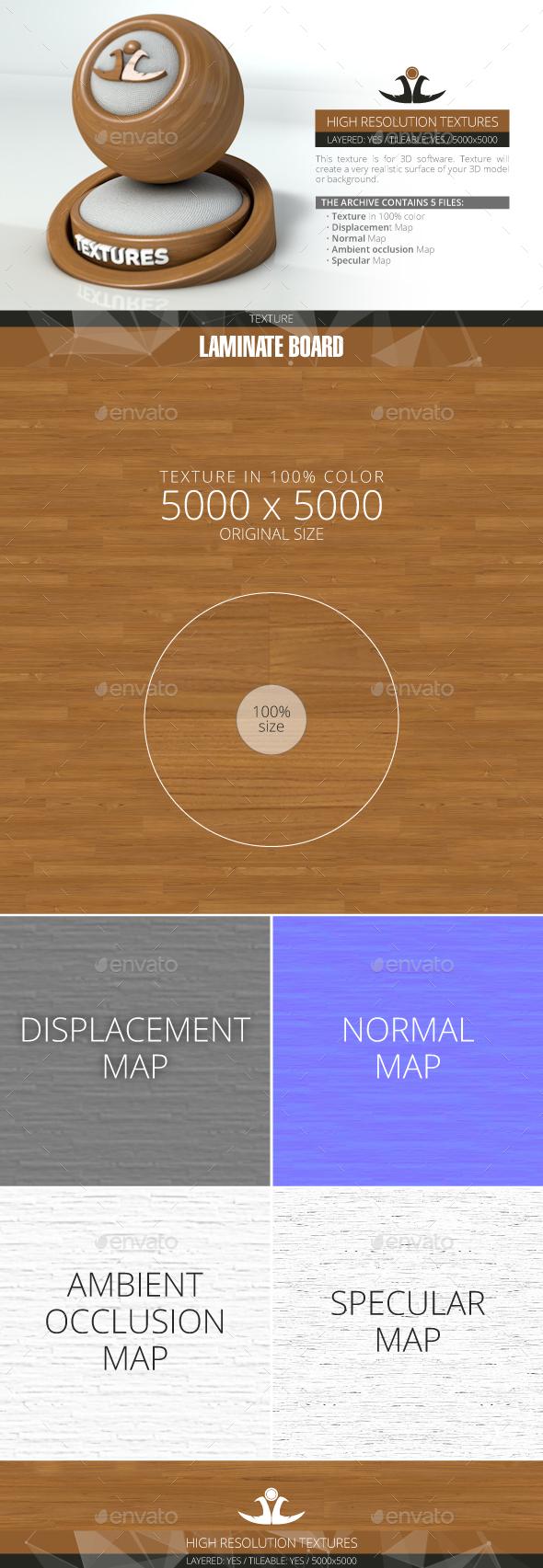 Laminate Board 81 - 3DOcean Item for Sale