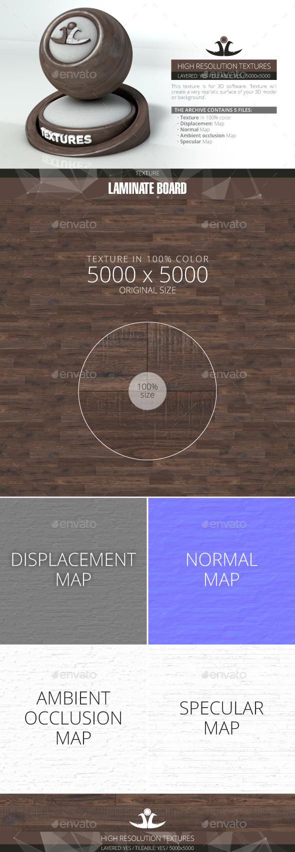Laminate Board 86 - 3DOcean Item for Sale