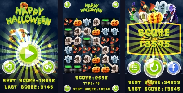 Source code              Happy Halloween Match3 – HTML5 Game + Android (Capx)            nulled