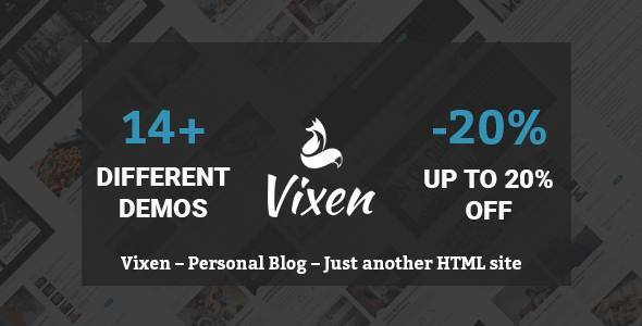 Vixen - Multipurpose Blog / Magazine Template - Retail Site Templates